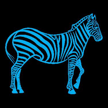A close up of a zebra Description automatically generated